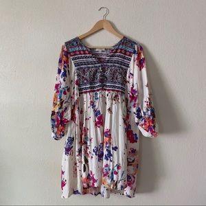 Umgee Floral Boho Dress